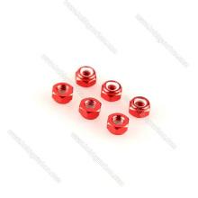 Customized Aluminum Lock Nut Key Set Red Black
