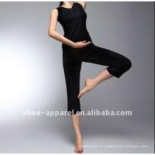 2013 solide couleur noire danse vêtements de yoga porter fujian