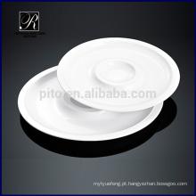 Cerâmica prato dinnerware placa dupla rodada