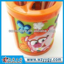 fleur forme vinyle pvc mignon porte-stylo pour le souvenir des enfants