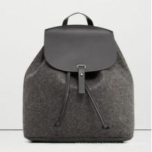 Fur Felt Lady′s Fashion Backpack Wzx22431