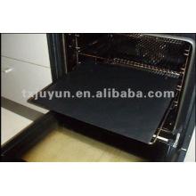 Forro do forno não reutilizável do revestimento no preto