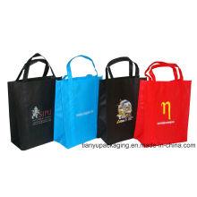 Promoción PP no tejido de compras Eco bolsa con logotipo de impresión