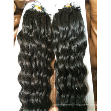 100% Brazilian virgin human hair micro loop ring hair extensions natural hair deep wave wholesale price