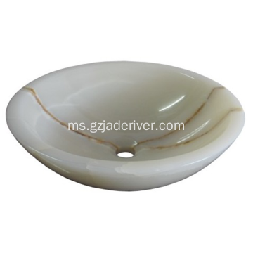 Mewah Jade Stone Wash Basin Bathroom Sink