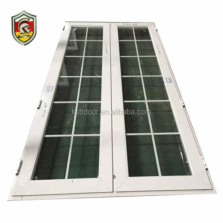 Residential modern style soundproof thermal break aluminium french casement winter double-glazed windows