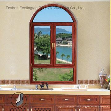 Fenêtre à auvent en aluminium à double vitrage à haut rendement énergétique (FT-W70)