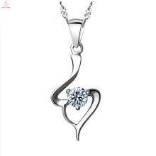 Fashion 925 Sterling Silver Cz Pendant Necklace Jewelry