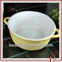 Круглая керамическая кухонная посуда