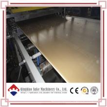 Línea de producción de extrusión de placas de plantillas de construcción WPC