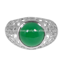 Green Onyx Gemstone 925 Solid Silver Ring Jewelry