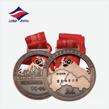 China style hollow out souvenir medal with ribbon