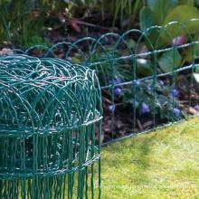 Green PVC Coated Border Garden Fence
