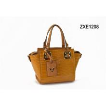 Best-Selling Stylish Customized Orange Good Quality Leather Handbag for Lady Zxe1208