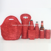 Lunch Bag Set with Tote bottle sleeve