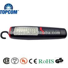 Plástico 30 + 7 LED luz de trabajo magnético