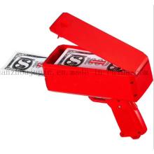 Brinquedo plástico colorido da arma do dinheiro do logotipo do OEM para o presente relativo à promoção
