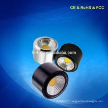 CE RoHS Approuvé 7W Surface monté spot spot commercial fabriqué en Chine