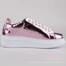 Zapatos de mujer PU Zapatos de inyección Zapatos casuales Snc-65004-Pnk