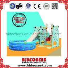 Bär Stil Chilren Indoor Plasti Slide mit Ball Pit