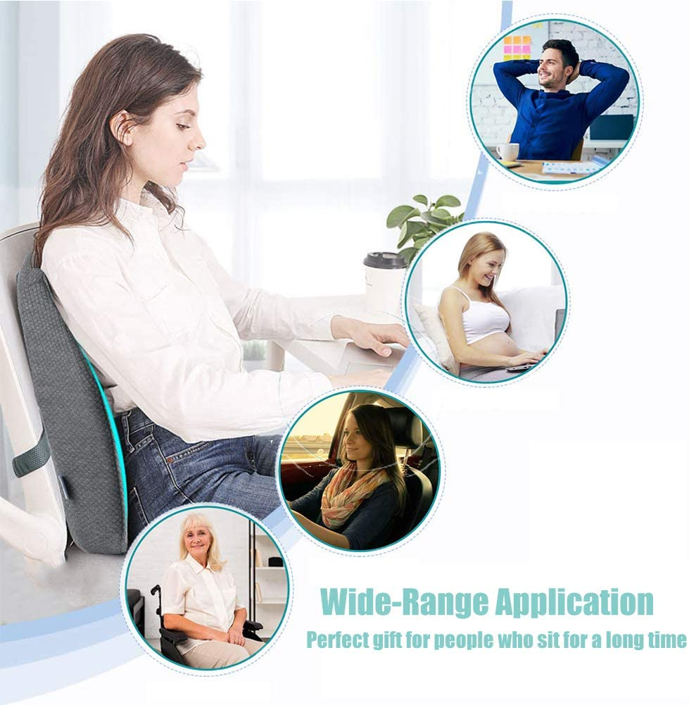Memory Foam Massaging Lumbar Support Health Touch