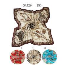 SA429 193 silk muslim square scarf100% silk hijab shawl and scarvessupplier alibaba china
