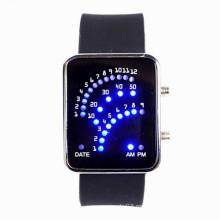 Relojes binarios de la venda del silicón de la manera, mujeres llevadas de los relojes