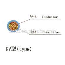 300 / 500V 450 / 750V fio de cobre-Stranded-Cable-RVV flexível cabo de alimentação isolado PVC