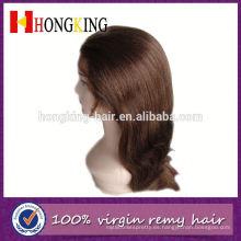 De Buena Calidad peluca de encaje frontal con flequillo hecho en China