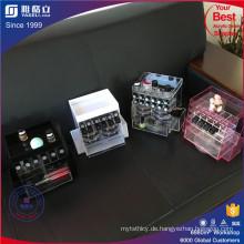 China-Fabrik-kundenspezifischer Farben-Acryl-drehender Lippenstift-Ausstellungsstandplatz