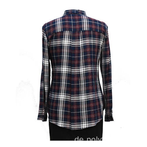 Damen Langarm Handarbeit Beads Casual Shirt