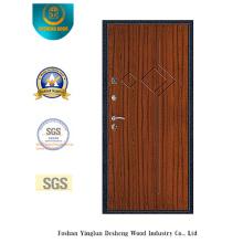 Porte en acier de sécurité de style moderne avec la poche en acier de porte (s-1012)