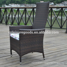 New gas lift rattan recliner with aluminium frame