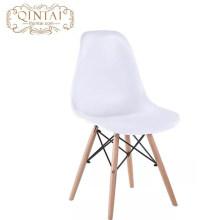Style scandinave de style nordique en gros pas cher en plastique et en bois salon blanc chaise