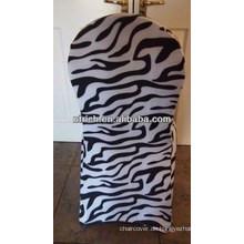 Großhandel, spezifische Zebramuster Lycra Stuhlabdeckung für Hochzeit Bankett hotel