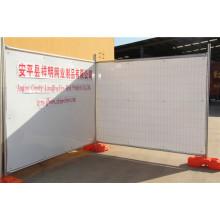 Au Type Popular Galvanized Temp Fence Construction temporaire Clôture avec China Factory