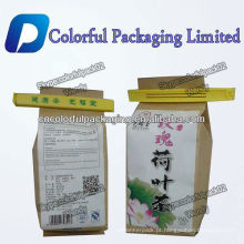 Wonderful design 500g tea bag packaging bags/kraft paper doypack aluminum foil lined plastic bag with tin tie and Valve