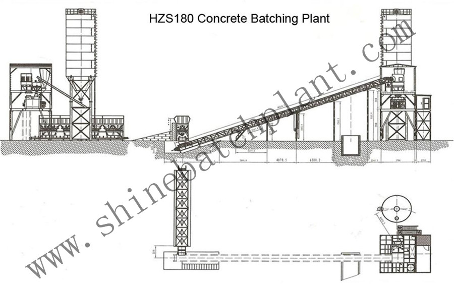 Hzs180 Concrete Mix Plant