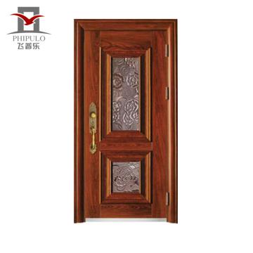 Fabricado en china de la puerta principal. Materiales de construcción modernos. Puerta de acero industrial.