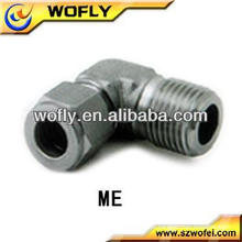 Hot venda aço inoxidável macho NPT parafuso macho tubo de cotovelo acessórios