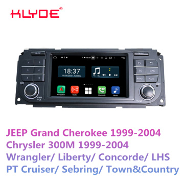 Android 10.0 car dvd player for jeep 1999-2004