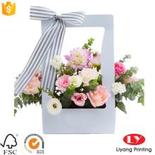 Vente chaude papier emballage cadeau fleur boîte