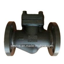 Válvula de retenção forjada DIN do elevador da extremidade da conexão da flange do aço A105