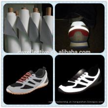 Novos produtos no mercado da China alibaba PU reflexivo couro sintético para sapatos