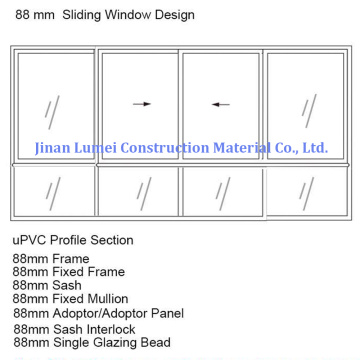 UPVC Schiebeflügel Windows Profiles Liner