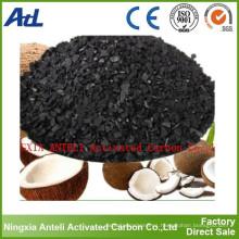 cáscara de coco de carbón activado utilizada en la descafeinización
