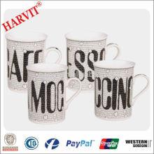 Wholesale Ceramic Mugs Beer Mug / Stoneware Modern Coffee Cups/ Price of Letter Design Straight Mug