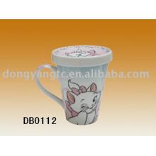 Fábrica direta atacado 400cc xícara de chá de cerâmica com tampa