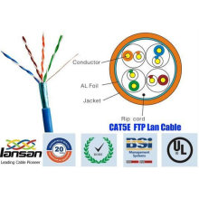 Top quality 26awg ftp cat5e cable 4 pair shield with foil approved by UL