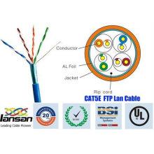 Alta qualidade 26awg ftp cat5e cabo 4 pares escudo com folha aprovada pela UL